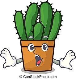 planta, aislado, spurge, cacto, sorprendido, mascota