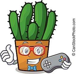 planta, aislado, spurge, gamer, cacto, mascota