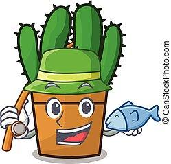 planta, aislado, spurge, pesca, cacto, mascota