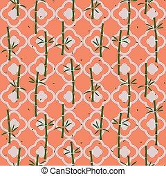 planta, bambu, pattern., seamless, asiático