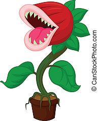 planta carnívora, caricatura