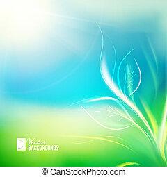 planta de semillero, crecer, en, luz del sol