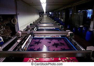 planta de tejido, impresión, industry: