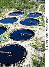 planta del agua, aguas residuales
