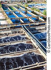 planta del agua, industrial, tratamiento