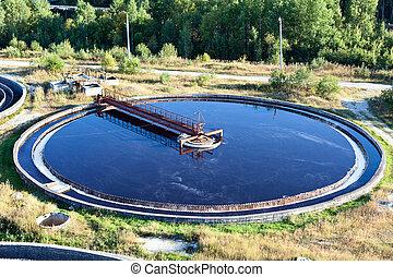 planta del agua, tratamiento, aguas residuales