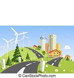 planta, energía eólica