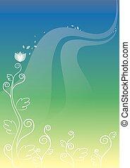 planta, fundo, ilustração