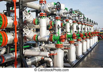 planta, gas, válvulas