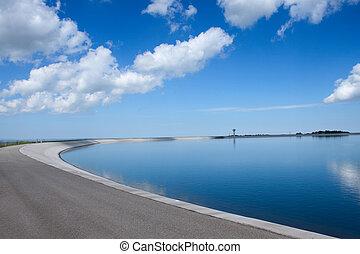 planta, -, hidroelétrico, lago artificial