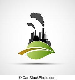 planta industrial, leaf.