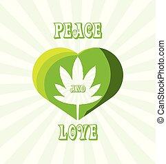 planta, marihuana, amor, paz
