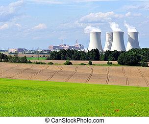 planta nuclear, potencia, temelin