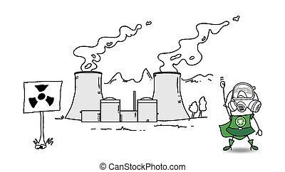planta nuclear, super, karen