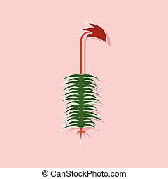 planta, pegatina, polytrichum, papel, plano de fondo, ...