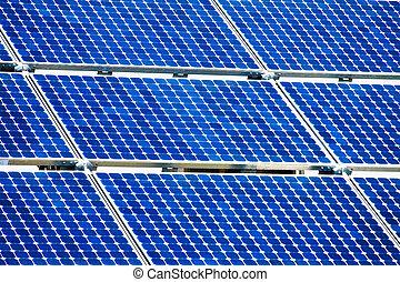 planta, poder, energia, energy., solar, alternativa