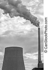 planta, poder, fumaça, poluição