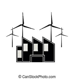 planta, poder vento, ícone