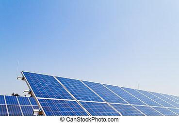 planta, potencia, energía, energy., solar, alternativa