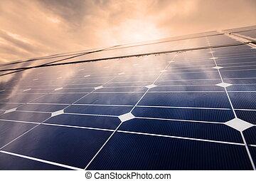 planta, potencia, energía, solar, utilizar, renovable