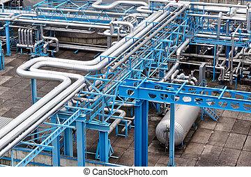 planta, procesamiento, gas