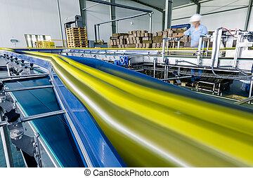 planta, producción, china, bebidas