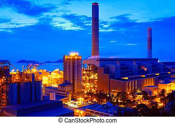 planta, producto petroquímico, tanque, gas, almacenamiento, ...