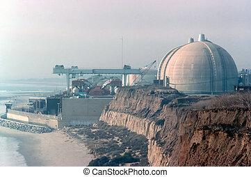 planta, san, potencia, nuclear, california, onofre