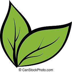 planta, seedling, caricatura, ícone