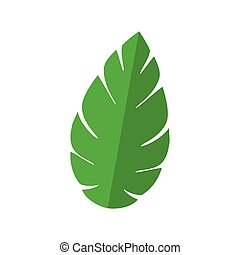 planta verde, naturaleza, hoja, icono
