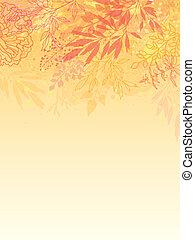 plantas, glowing, vertical, fundo, outono