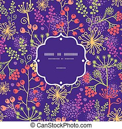 plantas, jardín, colorido, patrón, marco, seamless, vector, plano de fondo