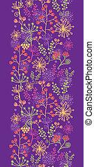 plantas, jardín, vertical, patrón, seamless, plano de fondo, frontera, colorido