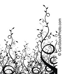 plantas, negro