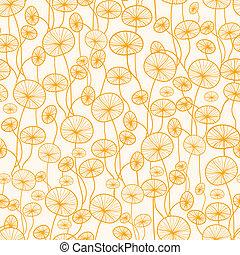 plantas, patrón, resumen, seamless, fondo amarillo