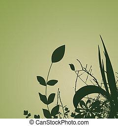 plantas, plano de fondo