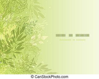 plantas, primavera, glowing, fundo, fresco, horizontais