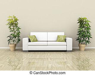 plantas, sofá