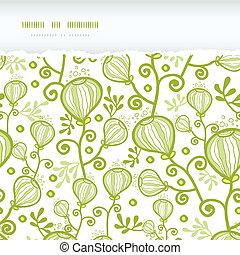 plantas, submarinas, padrão, abstratos, rasgado, seamless,...