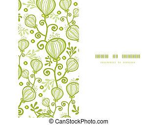 plantas, submarinas, padrão, abstratos, seamless, fundo, horizontais