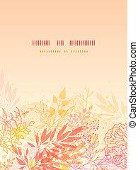 plantas, vertical, glowing, fundo, outono, cartão