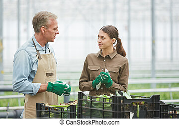 Plantation Workers Packing Flowers