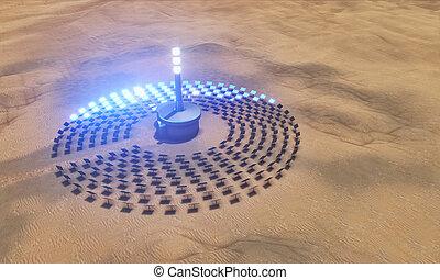 plante, énergie solaire