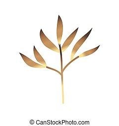 plante, doré, heliconia, décoration, exotique, exotique