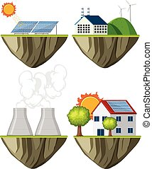 plante, ensemble, puissance verte