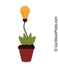 plante cologie contour pot id e ampoule 10 plante clipart vectoriel rechercher. Black Bedroom Furniture Sets. Home Design Ideas
