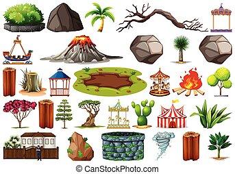 plante, extérieur, nature, themed, collection, objets, éléments
