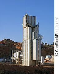 plante, fabrication, ciment