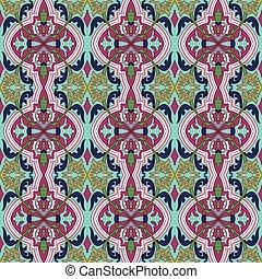 plante, fleur, vendange, image, vigne, seamless, fond, pattern., kaléidoscope