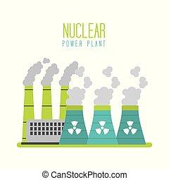 plante, generation magt, atomenergien, station
